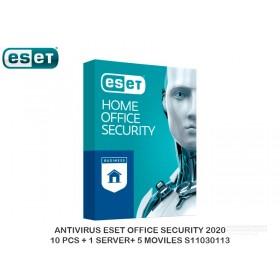 ANTIVIRUS ESET OFFICE SECURITY 2020 10 PCS + 1 SERVER+ 5 MOVILES S11030113