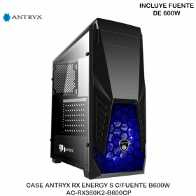 CASE ANTRYX RX ENERGY S C/FUENTE B600W AC-RX360K2-B600CP