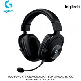 AUDIFONO C/MICROFONO LOGITECH G PRO X BLACK, BLUE VOICE 981-000817