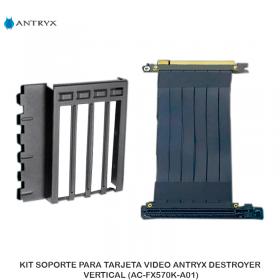 KIT SOPORTE PARA TARJETA VIDEO ANTRYX DESTROYER, VERTICAL (AC-FX570K-A01)
