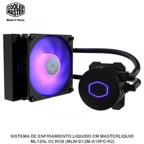 SISTEMA DE ENFRIAMIENTO LIQUIDO CM MASTERLIQUID ML120L V2 RGB (MLW-D12M-A18PC-R2)