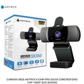CAMARA WEB ANTRYX V-CAM PRO SX350 C/MICROFONO FHP 1080P AVC-SX350K