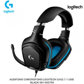 AUDIFONO C/MICROFONO LOGITECH G432 7.1 USB BLACK 981-000769