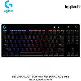 TECLADO LOGITECH PRO KEYBOARD RGB USB BLACK 920-009388
