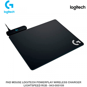 PAD MOUSE LOGITECH POWERPLAY WIRELESS CHARGER LIGHTSPEED RGB - 943-000109
