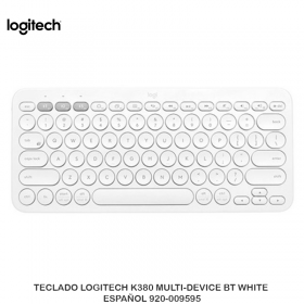 TECLADO LOGITECH K380 MULTI-DEVICE BT WHITE ESPAÑOL 920-009595