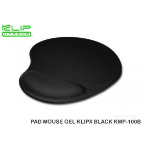 PAD MOUSE GEL KLIPX BLACK KMP-100B