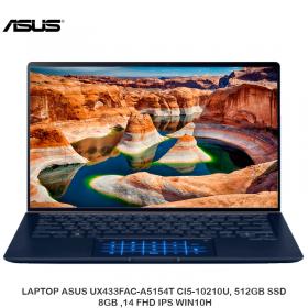 LAPTOP ASUS UX433FAC-A5154T CI5-10210U, 512GB SSD, 8GB ,14 FHD IPS WIN10H