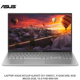 LAPTOP ASUS X512JP-EJ045T CI7-1065G7, 512GB SSD, 8GB, MX330 2GB, 15.6 FHD WIN10H