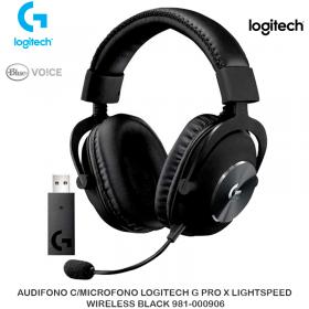AUDIFONO C/MICROFONO LOGITECH G PRO X LIGHTSPEED WIRELESS BLACK 981-000906