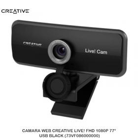 CAMARA WEB CREATIVE LIVE! FHD 1080P 77° USB BLACK (73VF086000000)