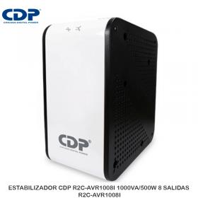 ESTABILIZADOR CDP R2C-AVR1008I 1000VA/500W 8 SALIDAS R2C-AVR1008I
