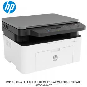 IMPRESORA HP LASERJERT MFP 135W MULTIFUNCIONAL 4ZB83A 697