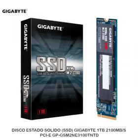 DISCO ESTADO SOLIDO (SSD) GIGABYTE 1TB 2100MB/S NVME PCI-E GP-GSM2NE3100TNTD