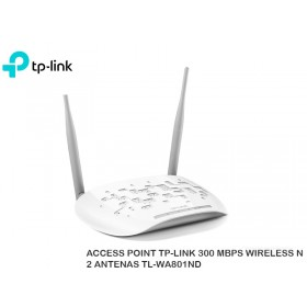 ACCESS POINT TP-LINK 300 MBPS WIRELESS N 2 ANTENAS TL-WA801ND