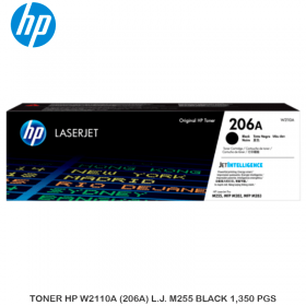 TONER HP W2110A (206A) L.J. M255 BLACK 1,350 PGS
