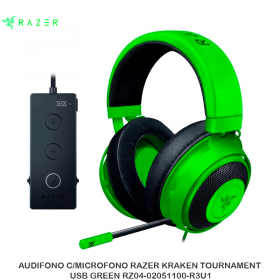 AUDIFONO C/MICROFONO RAZER KRAKEN TOURNAMENT USB GREEN RZ04-02051100-R3U1