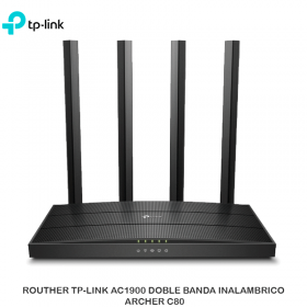 ROUTHER TP-LINK AC1900 DOBLE BANDA INALAMBRICO ARCHER C80