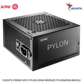 FUENTE PODER XPG PYLON 650W BRONZE PYLON650B-BKCEU