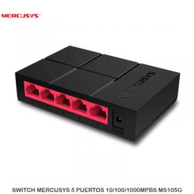SWITCH MERCUSYS 5 PUERTOS 10/100/1000MPBS MS105G