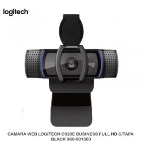 CAMARA WEB LOGITECH C920E BUSINESS FULL HD C/TAPA BLACK 960-001360