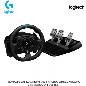 TIMON C/PEDAL LOGITECH G923 RACING WHEEL XBOX/PC USB BLACK 941-000156
