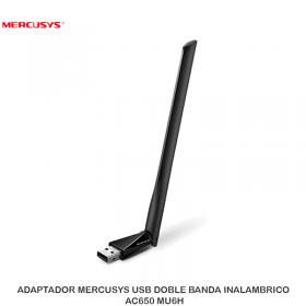 ADAPTADOR MERCUSYS USB DOBLE BANDA INLAMBRCIO AC650 MU6H