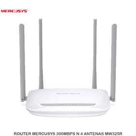 ROUTER MERCUSYS 300MBPS N 4 ANTENAS MW325R