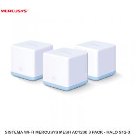 SISTEMA WI-FI MERCUSYS MESH AC1200 3 PACK - HALO S12-3