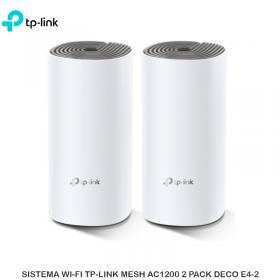 SISTEMA WI-FI TP-LINK MESH AC1200 2 PACK DECO E4-2
