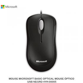 MOUSE MICROSOFT BASIC OPTICAL MOUSE ÓPTICO, USB NEGRO 4YH-00005