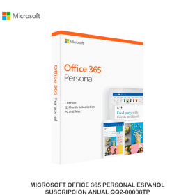 MICROSOFT OFFICE 365 PERSONAL ESPAÑOL SUSCRIPCION ANUAL QQ2-00008TP