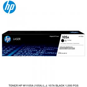 TONER HP W1105A (105A) L.J. 107A BLACK 1,000 PGS