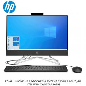 PC ALL IN ONE HP 22-DD0022LA RYZEN5 3500U 2.1GHZ, 4GB, 1TB, W10, 7WS37AA ABM