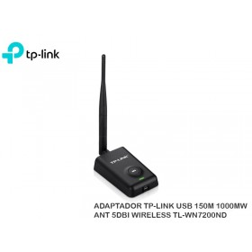 ADAPTADOR TP-LINK USB 150M 1000MW ANT 5DBI WIRELESS TL-WN7200ND