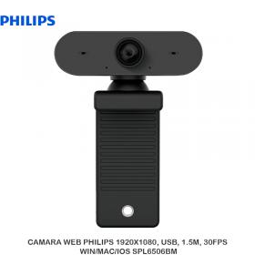 CAMARA WEB PHILIPS 1920X1080, USB, 1.5M, 30FPS WIN/MAC/IOS SPL6506BM