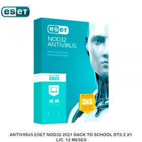 ANTIVIRUS ESET NOD32 2021 BACK TO SCHOOL BTS 2.X1 LIC. 12 MESES