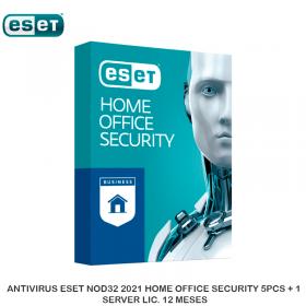 ANTIVIRUS ESET NOD32 2021 HOME OFFICE SECURITY 5PCS + 1 SERVER LIC. 12 MESES