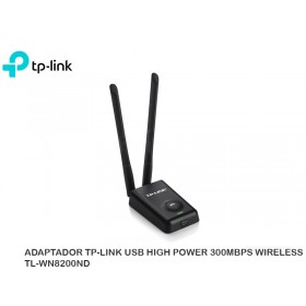 ADAPTADOR TP-LINK USB HIGH POWER 300MBPS WIRELESS TL-WN8200ND