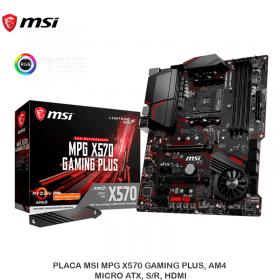 PLACA MSI MPG X570 GAMING PLUS, AM4, MICRO ATX, S/R, HDMI