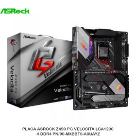 PLACA ASROCK Z490 PG VELOCITA LGA1200 4 DDR4 PN/90-MXBBT0-A0UAYZ
