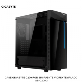 CASE GIGABYTE C200 RGB SIN FUENTE VIDRIO TEMPLADO GB-C200G