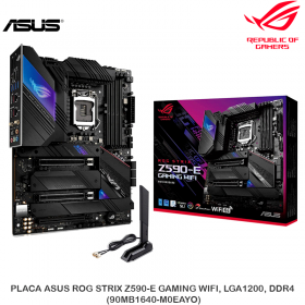 PLACA ASUS ROG STRIX Z590-E GAMING WIFI, LGA1200, DDR4, (90MB1640-M0EAYO)