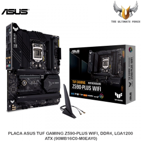 PLACA ASUS TUF GAMING Z590-PLUS WIFI, DDR4, LGA1200, ATX (90MB16C0-M0EAY0)