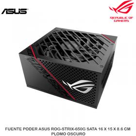 FUENTE PODER ASUS ROG-STRIX-650G SATA 16 X 15 X 8.6 CM PLOMO OSCURO