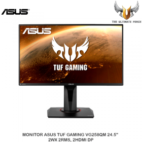 """MONITOR ASUS TUF GAMING VG258QM 24.5"""" 2WX 2RMS, 2HDMI DP"""