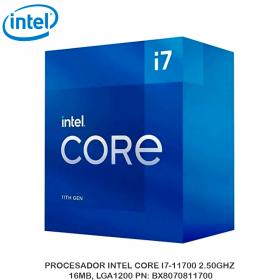 PROCESADOR INTEL CORE I7-11700 2.50GHZ, 16MB, LGA1200 PN: BX8070811700