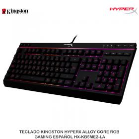 TECLADO KINGSTON HYPERX ALLOY CORE RGB GAMING ESPAÑOL HX-KB5ME2-LA