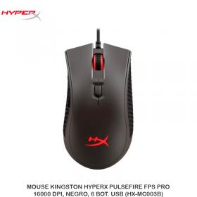 MOUSE KINGSTON HYPERX PULSEFIRE FPS PRO,16000 DPI, NEGRO, 6 BOT. USB (HX-MC003B)