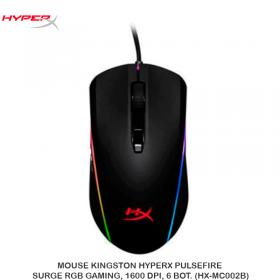 MOUSE KINGSTON HYPERX PULSEFIRE SURGE RGB GAMING, 1600 DPI, 6 BOT. (HX-MC002B)
